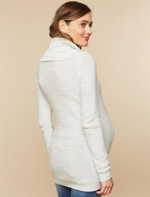 Drape Front Maternity Sweater, Grey