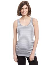 Rib Knit Maternity Tank Top, Heather Grey