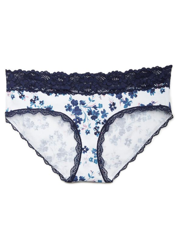 Store Only Jessica Simpson Lace Maternity Hipster Panties (single), Blue Floral