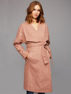 Wrap Maternity Jacket, Mauve