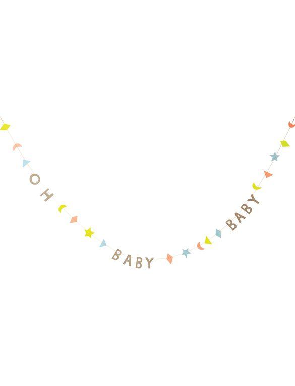 Meri Meri Oh Baby Baby Mini Garland, Multi Color