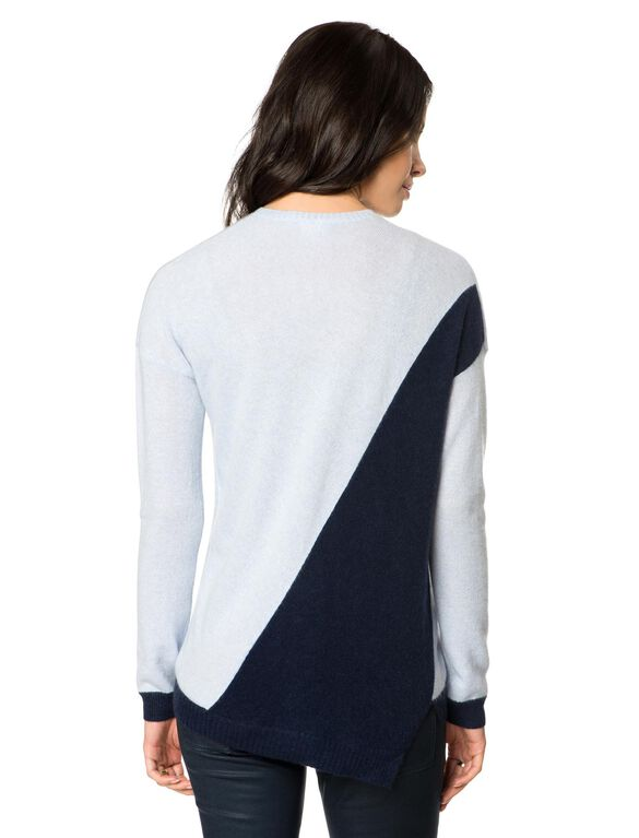 Maternity Sweater, Cloud/Pacific
