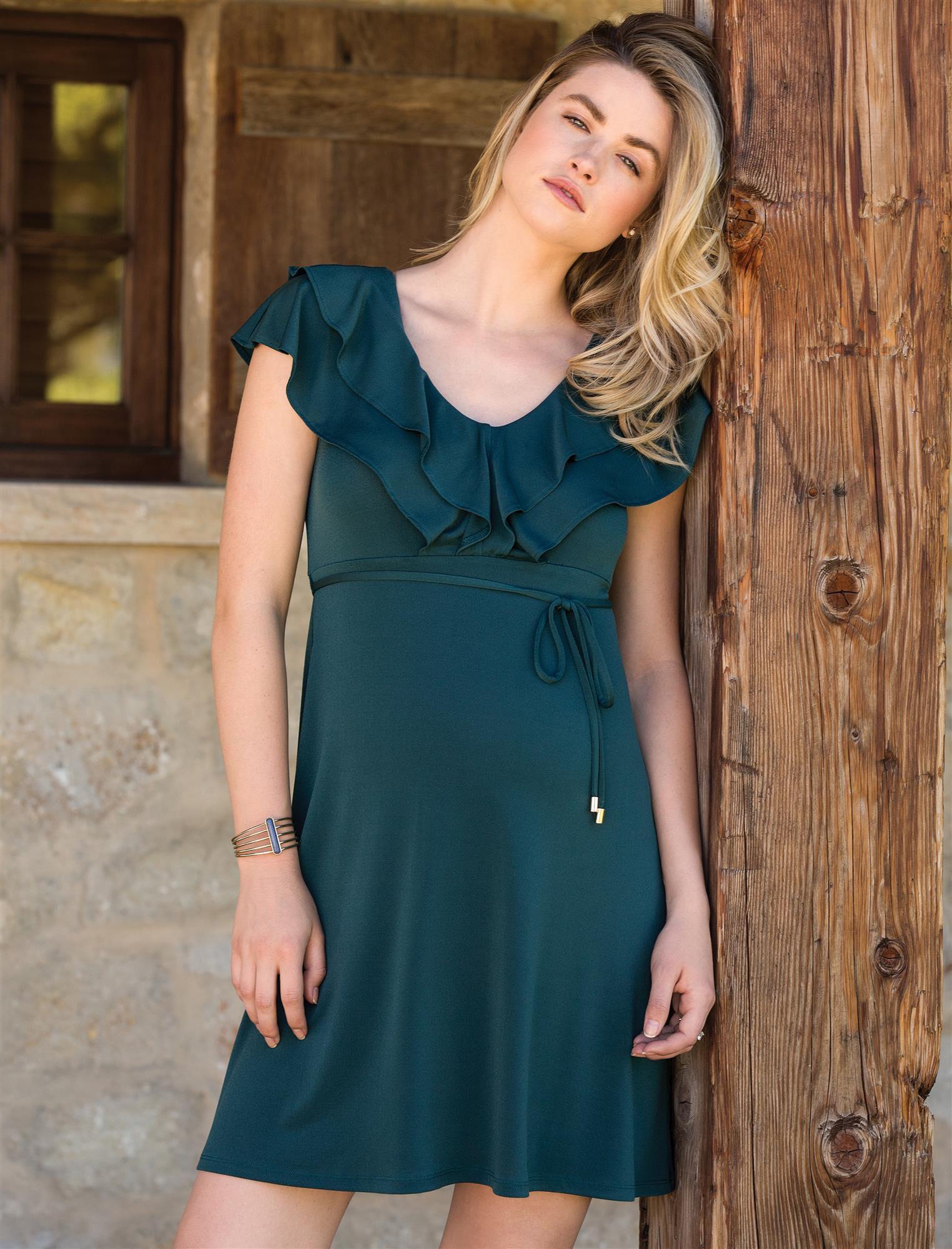 Jessica Simpson Flutter Sleeve Maternity Dress