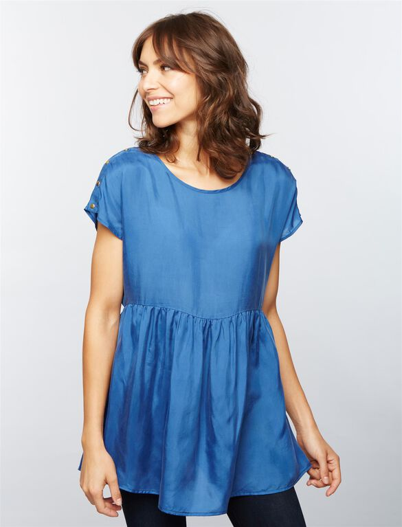 Seraphine Babydoll Nursing Top, Blue