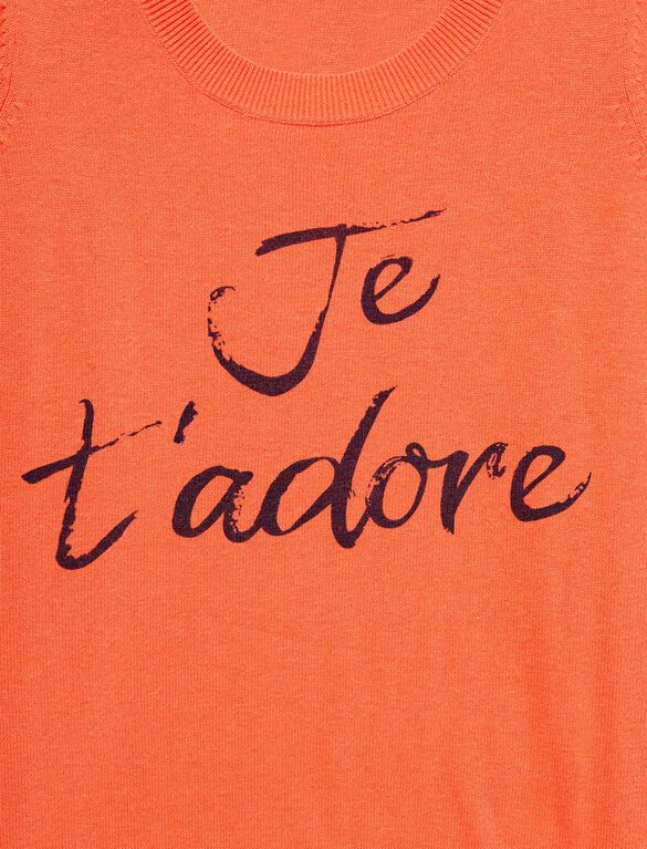 Je T`adore Maternity Sweater, Clementine