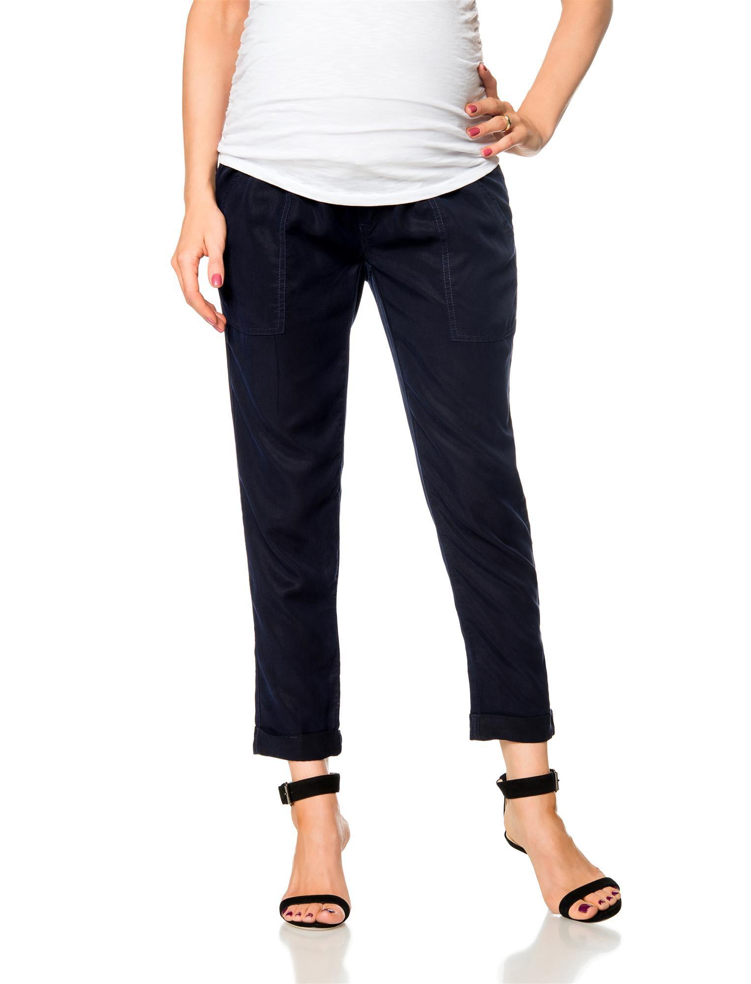 Pull On Style Cotton Woven Straight Leg Maternity Pants