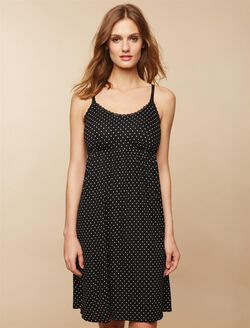 Bump in the Night Nursing Nightgown- Dot Print, Dot