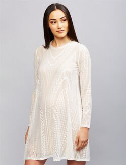 BCBGMAXAZRIA Lace Maternity Dress, White