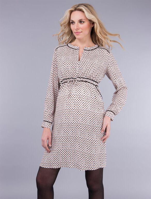 Seraphine Babydoll Maternity Dress, Pink Print