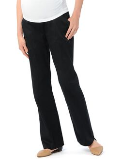 Secret Fit Belly Twill Boot Cut Maternity Pants, Black