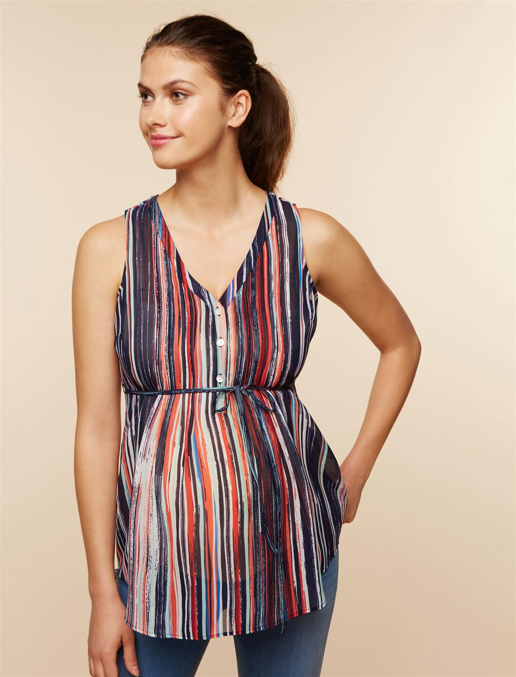 Pleated Maternity Blouse at Motherhood Maternity in Victor, NY   Tuggl