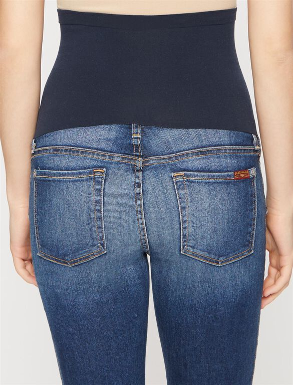 7 For All Mankind Secret Fit Belly Boot Cut Maternity Crop Jeans, Bright Indigo
