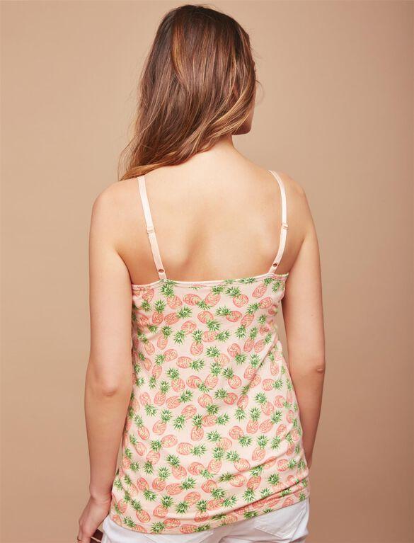 Clip Down Nursing Cami, Pineapple Print