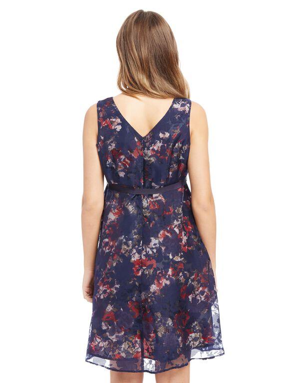 Floral Tie Detail Maternity Dress, Floral