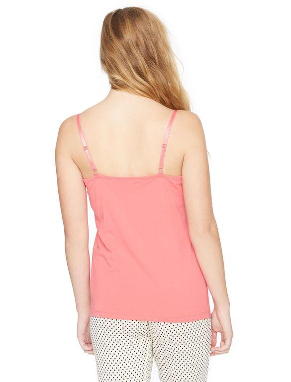 Web Only Clip Down Nursing Cami- Heather Grey, Pink