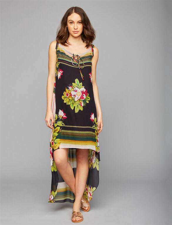 Nicole Miller High-low Hem Maternity Dress, Print