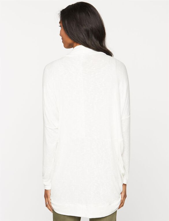 Shawl Collar Maternity Cardigan, Soft White