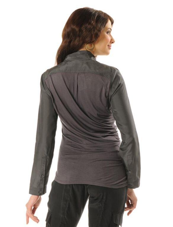 Lavish By Heidi Klum Ruched Maternity Blouse, Grey