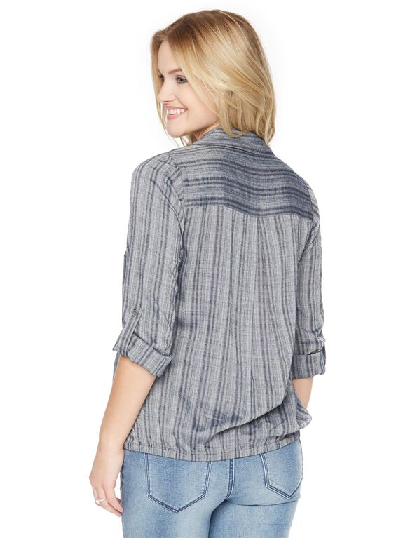Wendy Bellissimo Drape Front Maternity Top, Grey