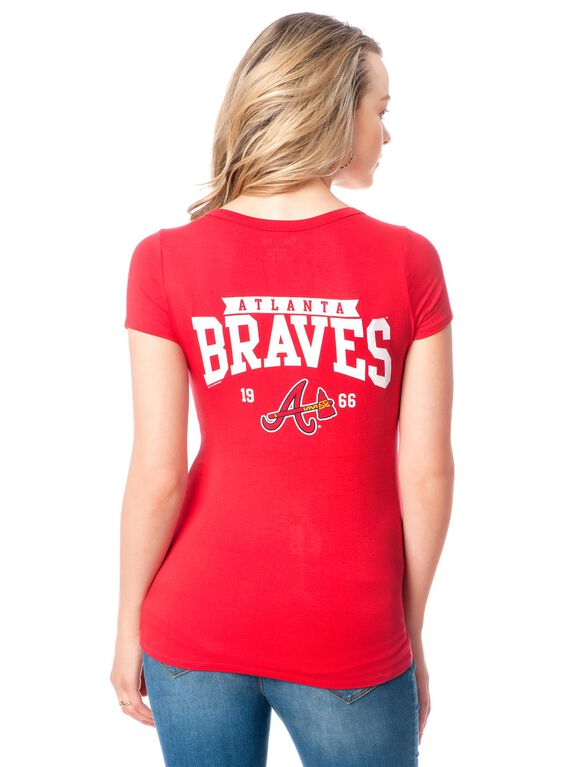 Atlanta Braves MLB Short Sleeve Maternity Graphic Tee, Braves
