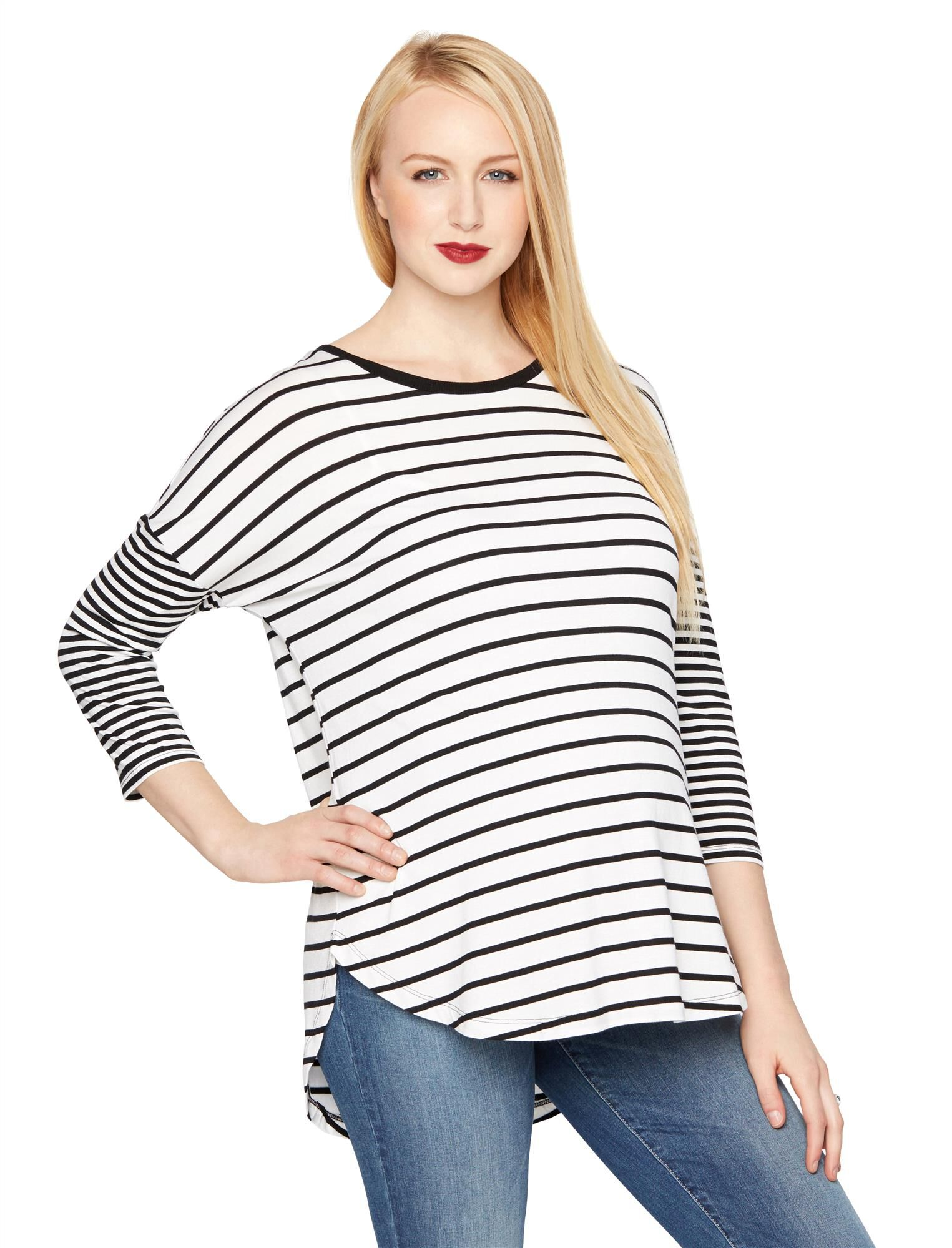 Drop Shoulder Maternity Shirt