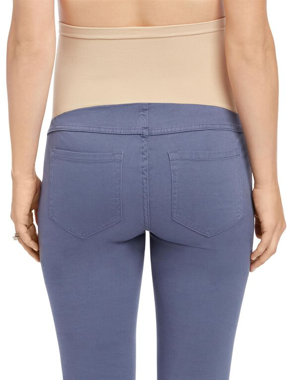 Secret Fit Belly Sateen Skinny Maternity Pants, Shadow Blue