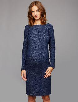 Soon Jacquard Maternity Dress, Blue