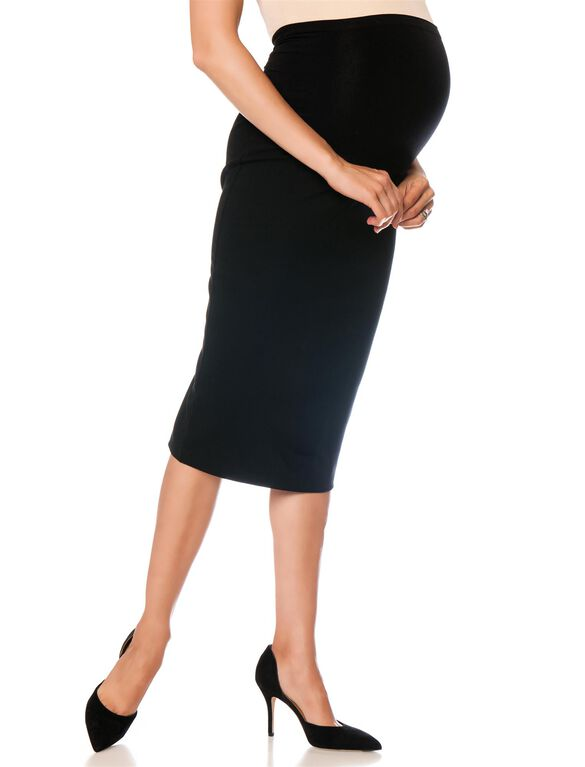 Isabella Oliver Pull On Maternity Pencil Skirt, Black
