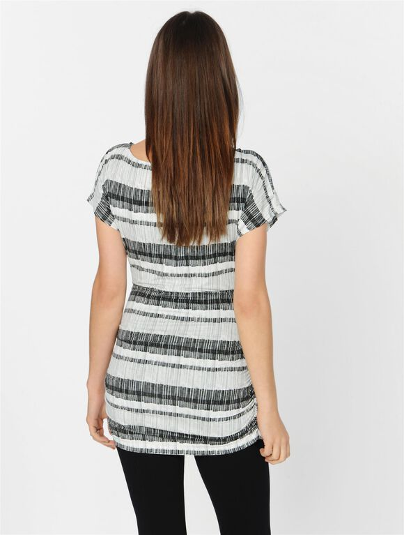Isabella Oliver Ruched Striped Maternity Top, Tonal Stripe Print