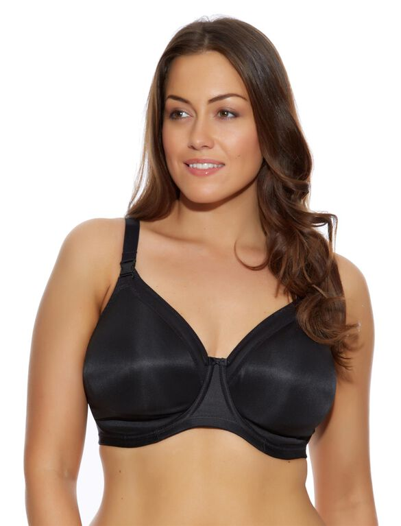 Elomi Full Coverage Underwire Nursing Bra- Black, Black