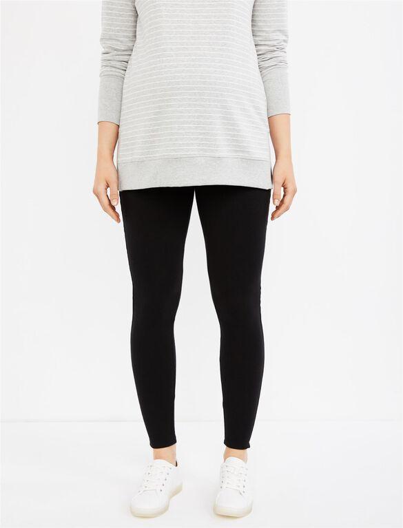 Secret Fit Belly French Terry Maternity Leggings, Black