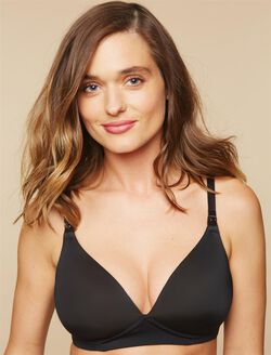 Wireless Nursing Bra- Black, Black
