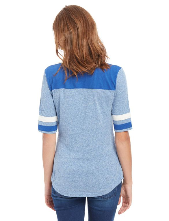 Indianapolis Colts NFL Elbow Sleeve Maternity Tee, Colts Blue