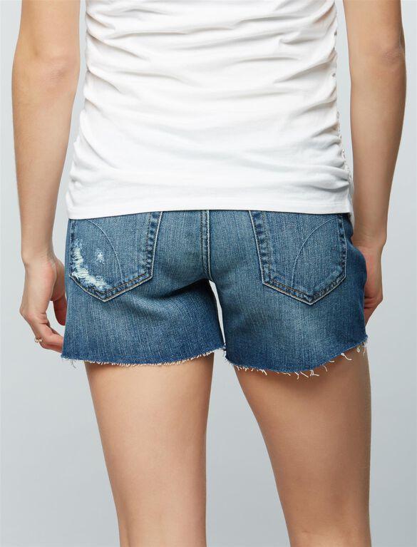 Joe's Jeans Ozzie Cut Off Maternity Shorts, Medium Wash
