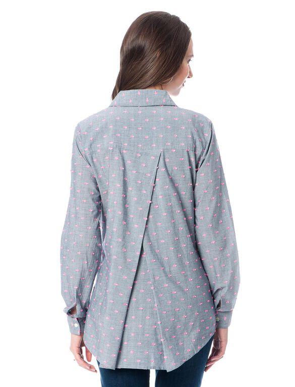 Splendid Button Front Maternity Shirt, Chambray