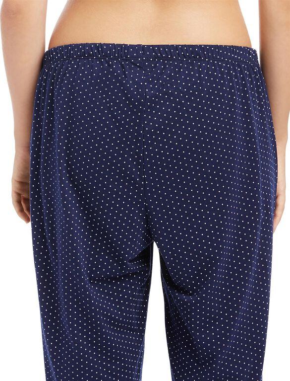 Polka Dot Maternity Pajama Set- Navy Print, Navy Print