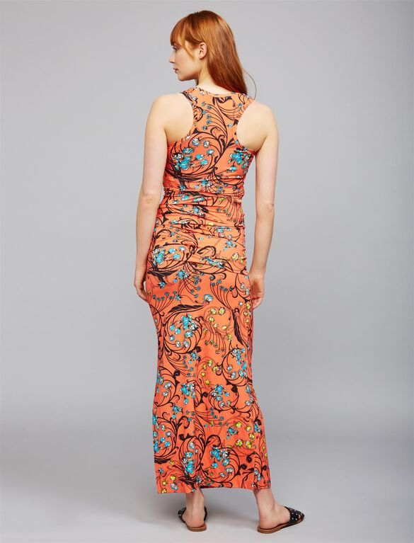 Nicole Miller Pleated Maternity Maxi Dress, Floral Print