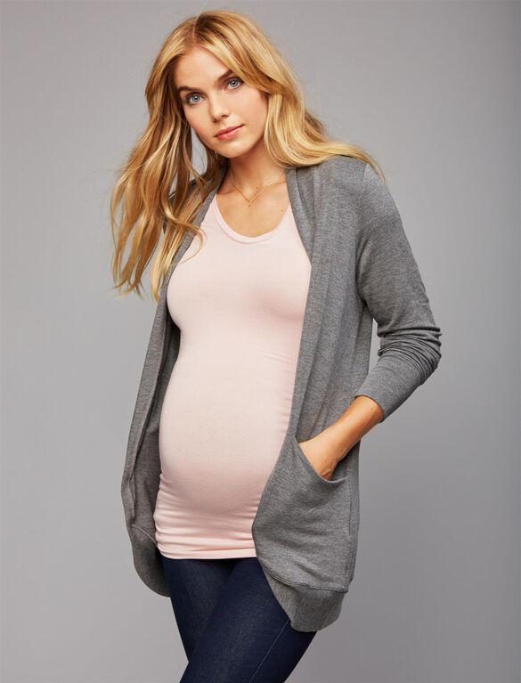 Layering Maternity Cardigan, Charcoal