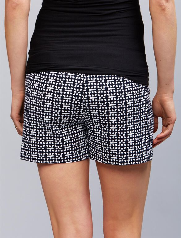 3 Way Belly Swing Maternity Shorts, Print