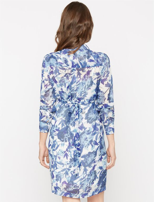 Paris Blues Maternity Shirt Dress, Multi Print