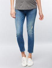 Mother Secret Fit Belly Looker Ankle Maternity Jeans- Grafitti Girl, Graffiti Girl