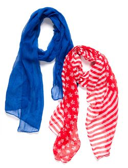 Stars And Stripes Scarf Set, Stars And Stripes