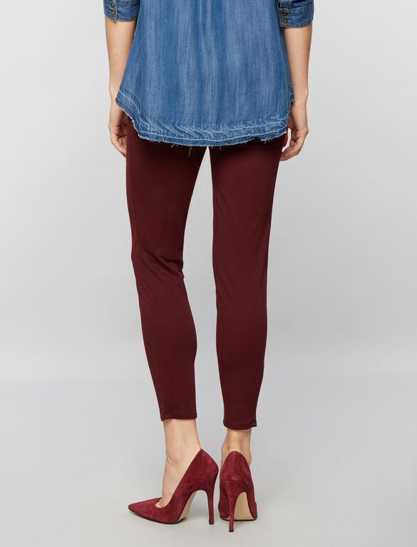 Secret Fit Belly Sateen Skinny Ankle Maternity Pants, Burgundy