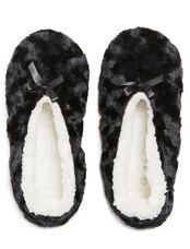 Fuzzy Slipper Socks, Black