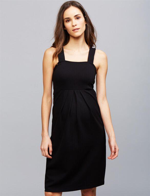 Isabella Oliver Shift Dress Maternity Dress, Black