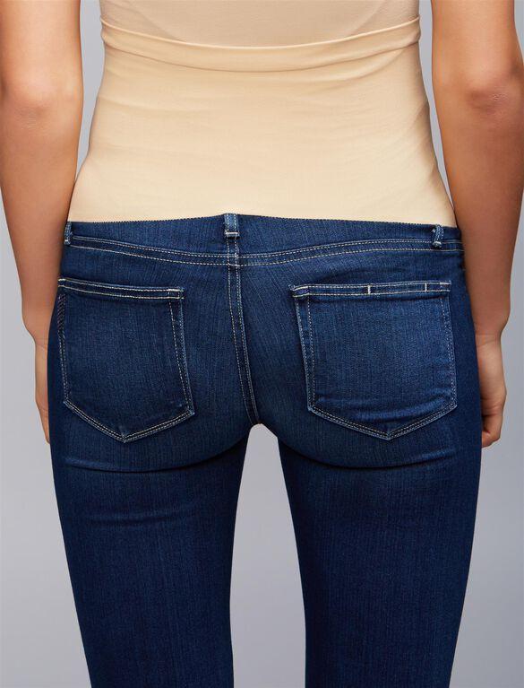 Paige Side Panel Skinny Leg Maternity Jeans, Medium Wash