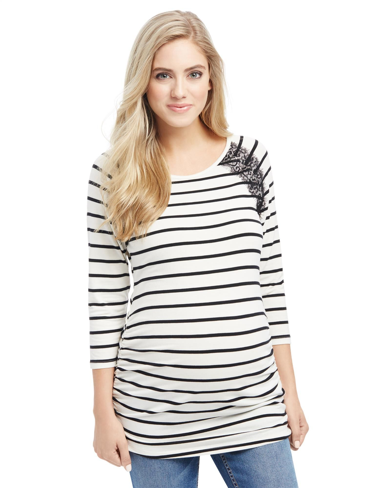Ruched Maternity Top
