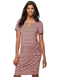 Rachel Zoe Short Striped Maternity Dress, Multi Stripe