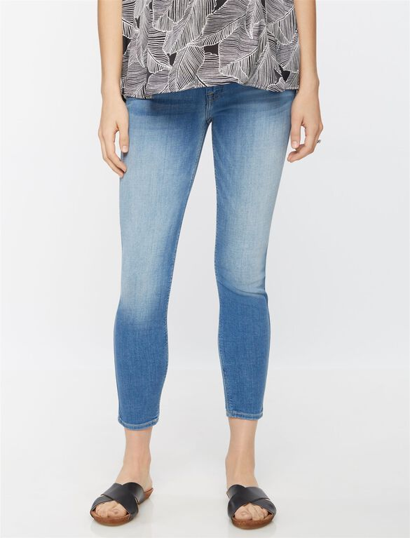 7 For All Mankind Secret Fit Belly Skinny Ankle Maternity Jeans, Vivid Authentic Blue