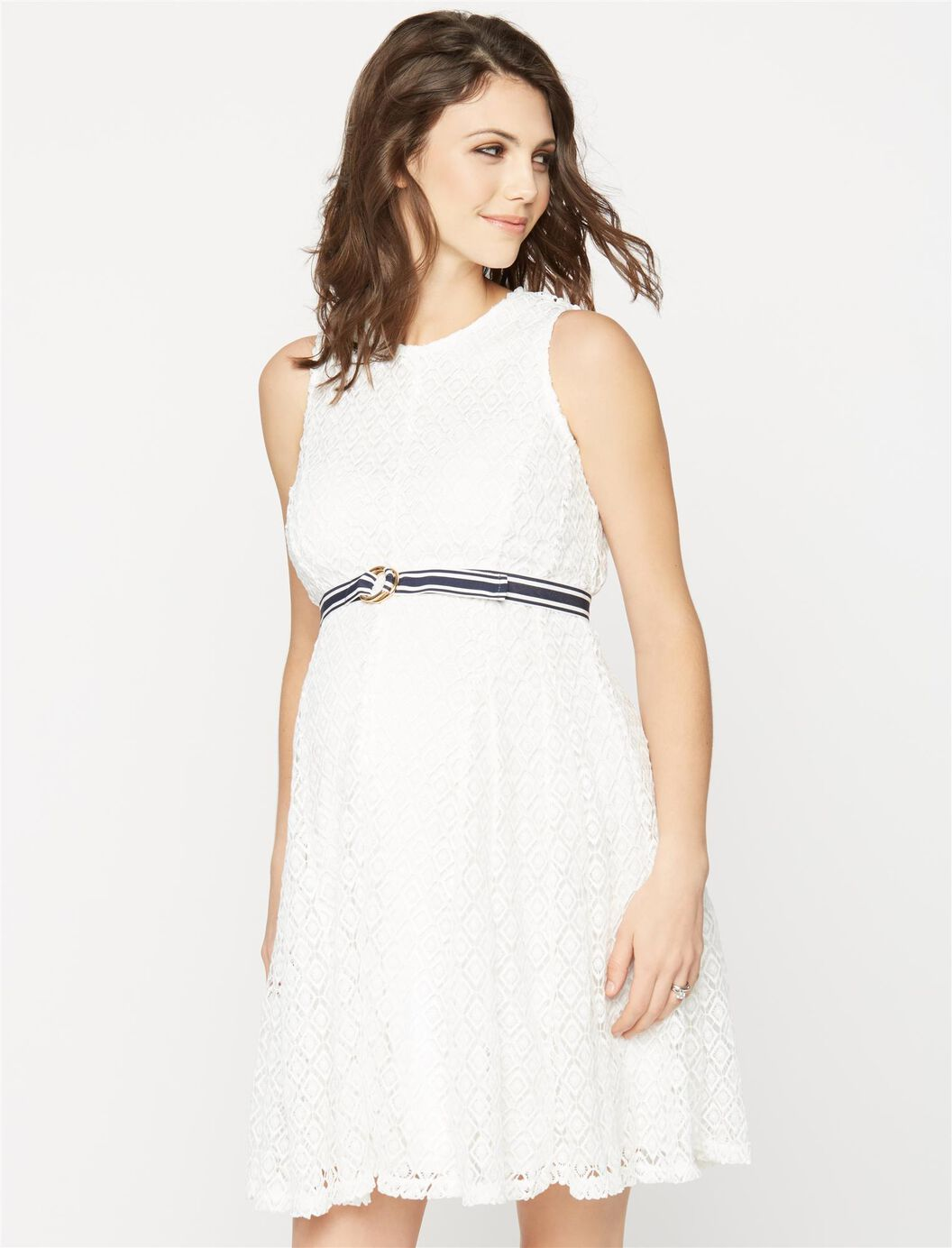 Taylor eyelet lace maternity dress a pea in the pod maternity taylor eyelet lace maternity dress white ombrellifo Images
